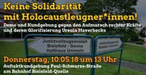 Keine Solidatität mit Holocaustleugner*innen