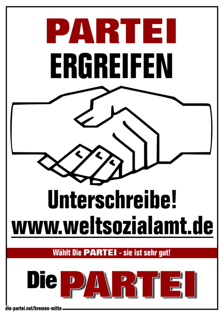 Die PARTEI - Unterschreibe!
