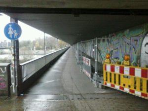 Stephanibrücke Fußweg (Radfahren erlaubt)