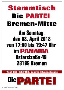 Dritter Stammtisch 2018 Die PARTEI Bremen-Mitte