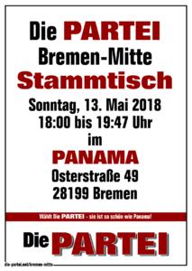 Die PARTEI Bremen Mitte, Stammtisch im PANAMA Mai 2018
