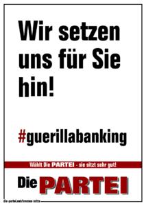 Wir setzen uns für Sie hin! #guerillabanking