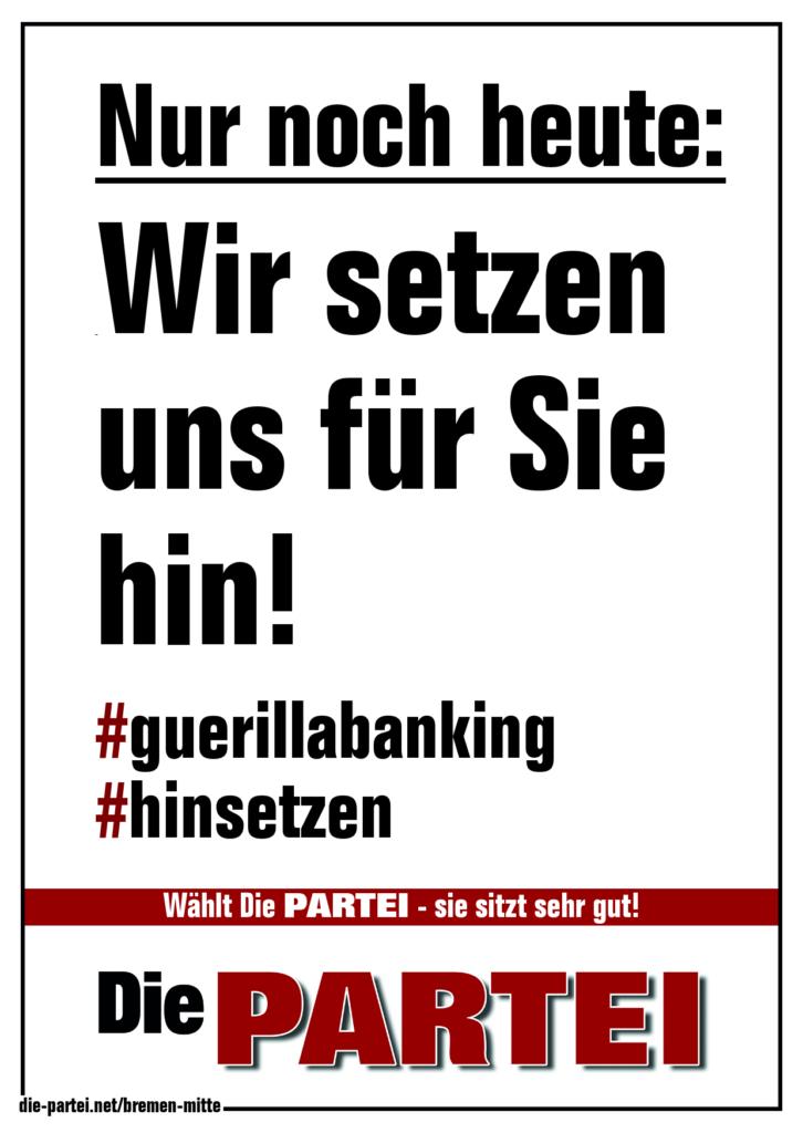 Die PARTEI_Bremen-Mitte guerillabanking