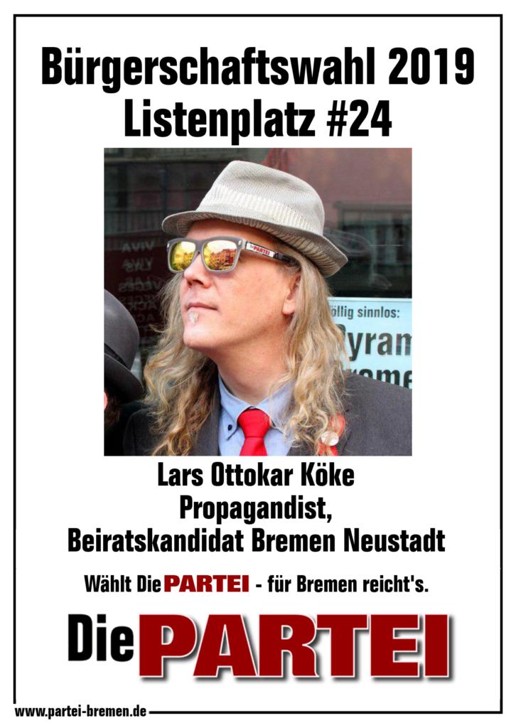 Die PARTEI Bremen - Listenplatz #24, Wahl zur Bremischen Bürgerschaft am 26. Mai 2019