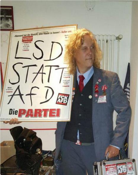 LSD statt AfD #fckafd Die PARTEI