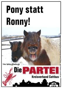 Pony statt Ronny