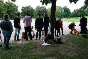 Abschlusskundgebung im Alaunpark
