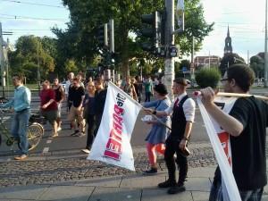 Die PARTEI weist den rechten Weg in die Spaßzone der Neustadt