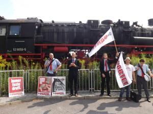 Solide angereist mit der Deutschen Reichsbahn