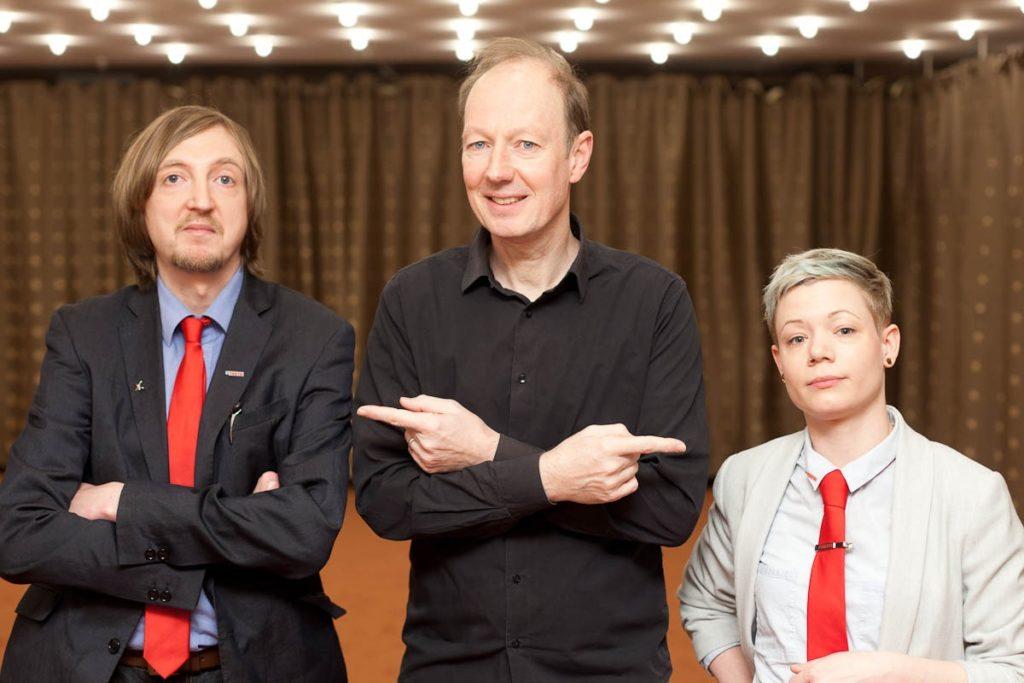 Keno Schulte mit Martin Sonneborn und Mique Mirus