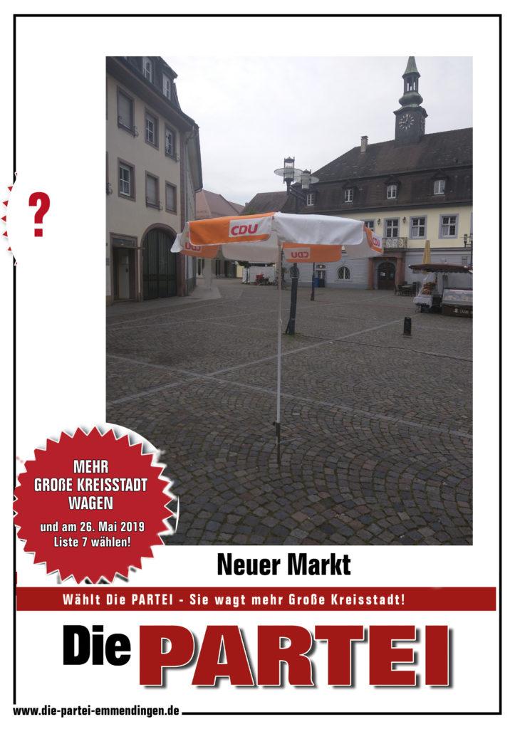 einsamer Schirm auf m Markt