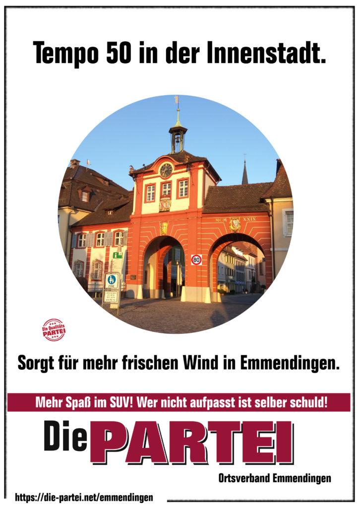 TEMPO  50  für mehr frischen Wind! Emmendingen  innovativ!