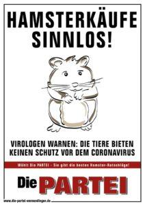Hamsterkäufe sinnlos! Virologen warnen: Die Tiere bieten keine Schutz vor dem Coronavirus.