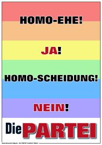 DiePARTEI Homo Ehe