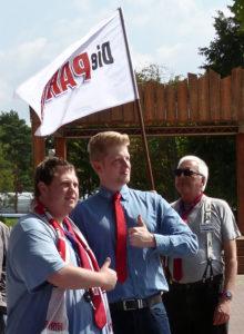 Der zurückgetretene Kreisvorsitzender Sandro Jahn (links) und sein Stellvertreter Philipp Hennig