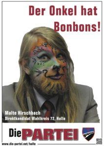 Malte Hirschbach, Kandidat