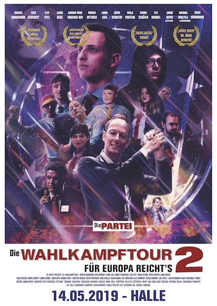 Plakat der Wahlkampftour 2019