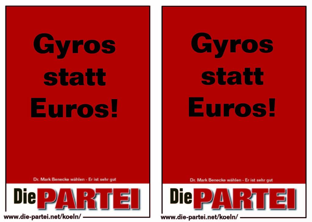 Gyros statt Euros