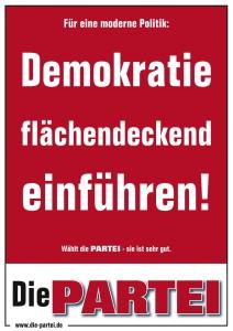 Für eine moderne Politik: Demokratie flächendeckend einführen!