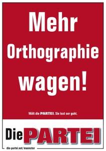 Mehr Orthographie wagen!