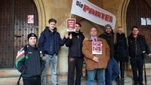 KV Münster und Steinfurt bei der Demo gegen die AfD im Rathaus