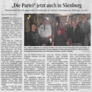 Die PARTEI jetzt auch in Nienburg