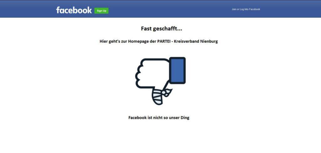 Bei Facebook geht der Daumen nach unten!