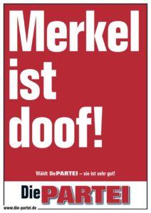Merkel ist doof