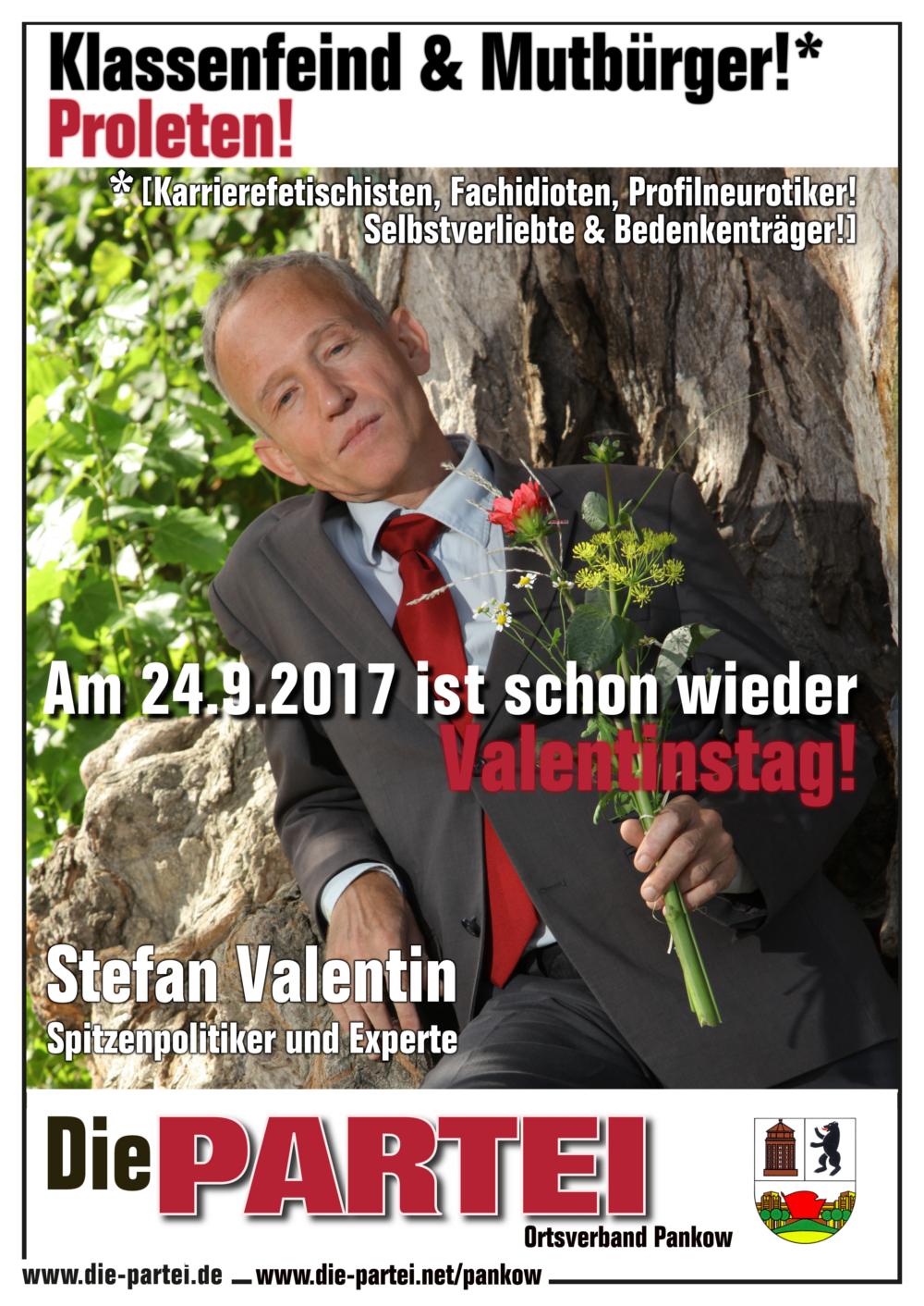 Anwesend Sein Werden Mitglieder Von Die PARTEI Pankow (darunter Unser 2.  Vorsitzender S. Valentin, Zwinkerzwonker).