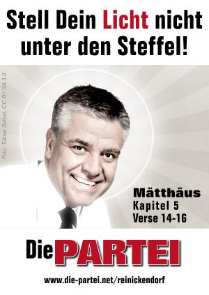 """Stickermotiv: """"Stell Dein Licht nicht unter den Steffel!"""""""