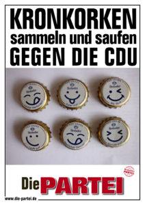 kronkorken SAMMELN UND SAUFEN GEGEN DIE CDU2