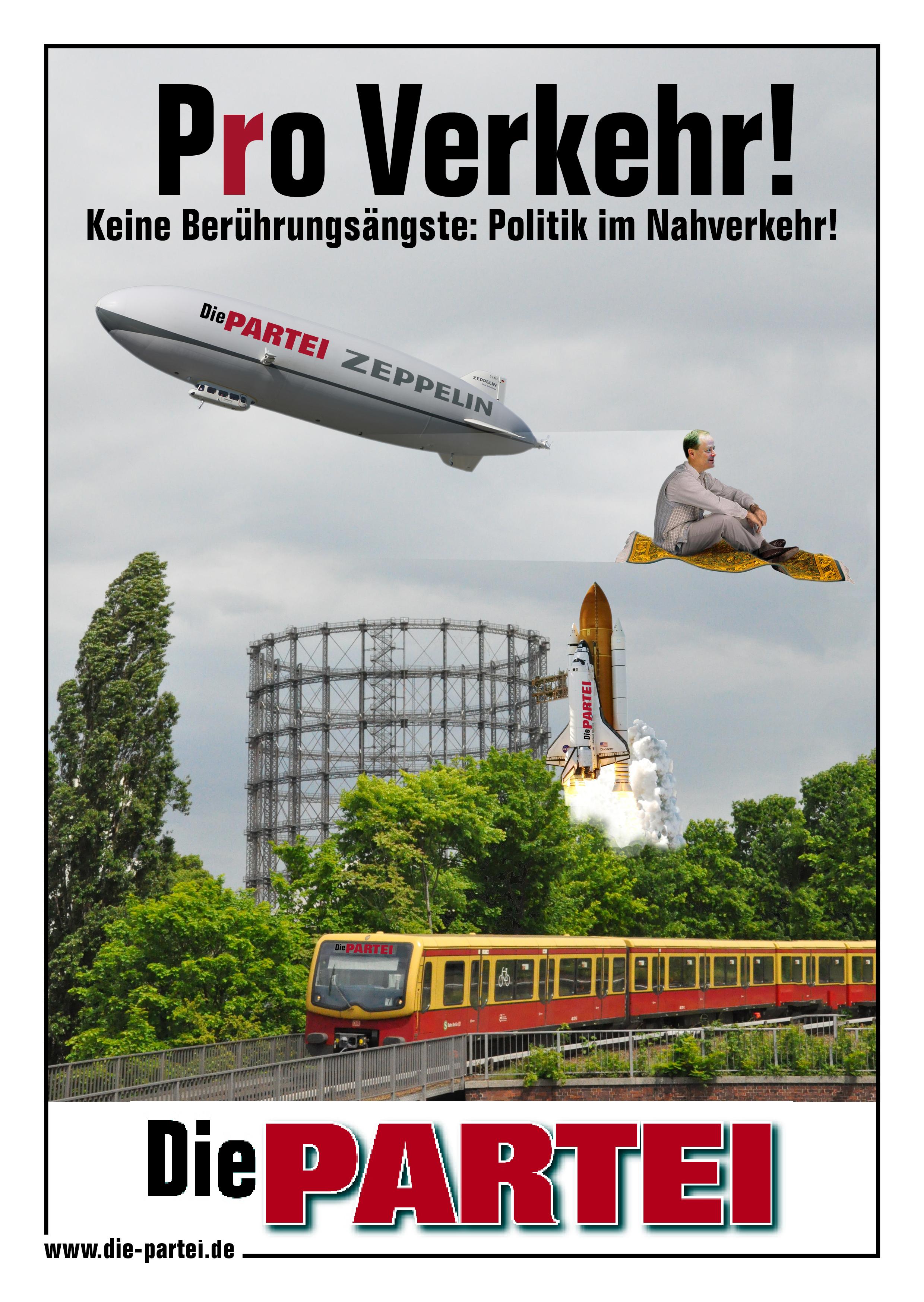 Plakatives   Die PARTEI Tempelhof-Schöneberg